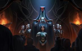 Картинка люди, девушки, маска, посвящение, Legends of Runeterra