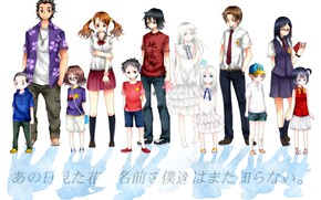Картинка Невиданный Цветок, Meiko Honma, Jinta Yadomi, Chiriko Tsurumi, Tetsudou Hisakawa, Naruko Anjou, Atsumu Matsuyuki