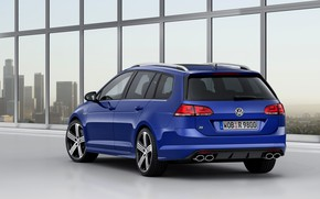Картинка синий, Volkswagen, универсал, 2014, патрубки, Golf R Estate