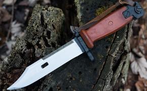Картинка оружие, AKM, штык нож, Tula, Soviet Bayonet, Type II