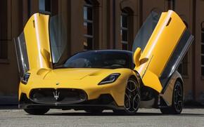 Картинка жёлтый, Maserati, Coupe, M240, MC20