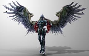 Картинка крылья, демон, demon, броня, wings, TEKKEN