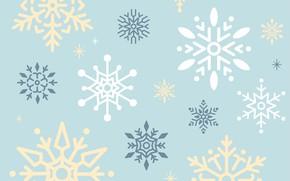 Картинка снежинки, фон, голубой, vector, текстура, design, background