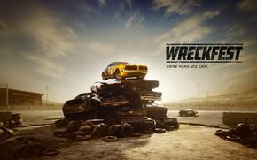 Картинка машины, металл, арт, свалка, Wreckfest