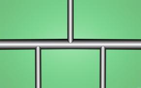 Картинка зеленый, фон, градиент, фигуры