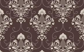 Картинка фон, коричневый, орнамент, style, винтаж, victorian