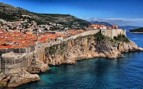 Картинка город, скала, Хорватия, Дубровник, Dubrovnik