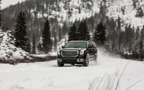 Картинка 2018, GMC, SUV, Denali, Yukon, мокрый снег