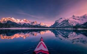 Картинка Canada, Maligne Lake, Spirit Island