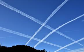 Картинка небо, отрава, химтрейлы, геноцид
