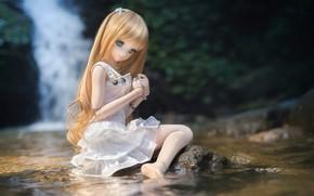 Картинка вода, кукла, платье