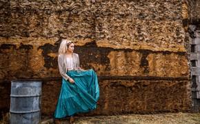 Картинка девушка, стена, Selina Baca