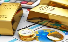 Картинка золото, деньги, слитки