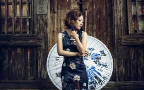 Картинка девушка, стиль, зонт