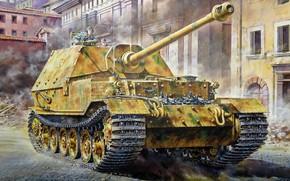 Картинка Германия, сау, вермахт, Истребитель танков, тяжелая, Самоходная артиллерийская установка, Masami Onishi, Sd.Kfz.184 Elefant