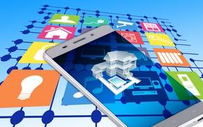 Картинка управление, технологии, смартфон, умный дом