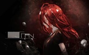 Картинка девушка, чёрный фон, Houseki no Kuni, Страна Самоцветов