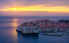 Картинка Sunset, Sea, Dubrovnik