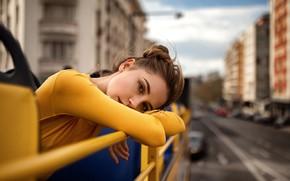 Обои взгляд, модель, красивая, Ксения Кокорева, Yuriy Lyamin, Лямин Юрий