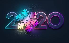 Картинка Снежинка, 2020, Новый 2020 год