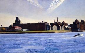 Картинка 1928, Edward Hopper, Blackwell's Island