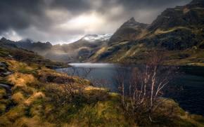 Картинка осень, горы, природа, озеро