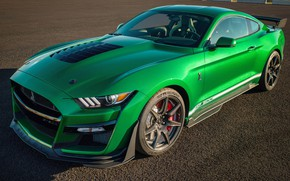 Картинка Mustang, Ford, Shelby, GT500, 2020, Green Hornet, EXP 500