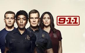 Картинка взгляд, фон, 911, актёры, сериал, Фильмы, 9-1-1