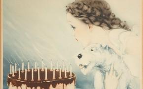 Картинка 1937, Louis Icart, С Днем рождения