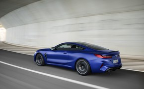 Картинка дорога, купе, скорость, BMW, 2019, BMW M8, M8, M8 Competition Coupe, M8 Coupe, F92