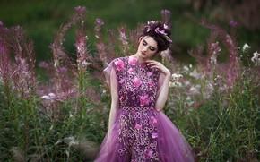 Картинка девушка, природа, настроение, платье, Алина, Светлана Бойнович