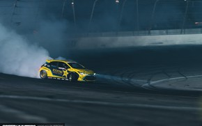 Картинка Toyota, Drift, Night, Formula Drift, Corolla, Rockstar Energy Drink, Toyota Corlla