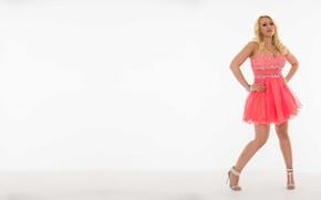 Картинка модель, актриса, блондинка, розовое платье, Kagney Linn Karter, Кэгни Линн Картер