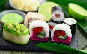 Картинка еда, суши, морепродукты