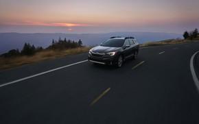Картинка дорога, Subaru, универсал, Outback, AWD, 2020