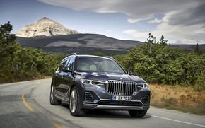 Картинка дорога, гора, BMW, 2018, кроссовер, SUV, 2019, BMW X7, X7, G07