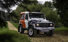 Картинка зелень, Land Rover, Defender, 2013, 2014, Challenge, Bowler