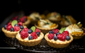 Картинка ягоды, еда, пироженные