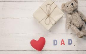 Картинка праздник, игрушка, мишка, сердечко, день влюбленных