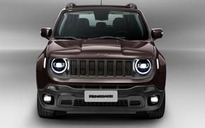 Картинка вид спереди, 2018, Jeep, Limited, Renegade