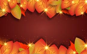 Картинка осень, листья, оранжевый, фон, текстура, бордовый