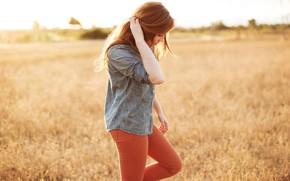 Картинка Girl, Field, Mood