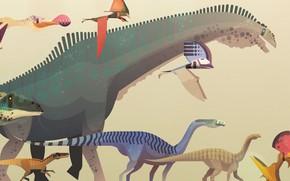 Картинка Минимализм, Стиль, Динозавр, Арт, Art, Style, Minimalism, Атлас, Динозавры, Гиганты, Юрский период, Атлас динозавров, James …
