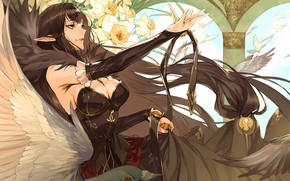 Картинка девушка, цветы, ведьма, пица, Fate - Apocrypha, Судьба Апокриф