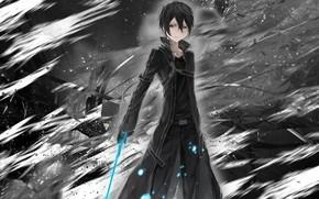 Картинка абстракция, фон, Мастера меча онлайн, Sword Art Online, Кирито