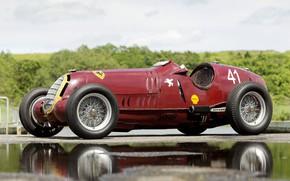 Картинка Колеса, Спицы, Alfa Romeo, Classic, Scuderia Ferrari, Grand Prix, 1935, Classic car, Sports car, Alfa …