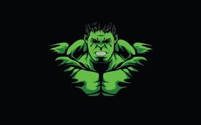 Картинка Минимализм, Халк, Hulk, Minimal
