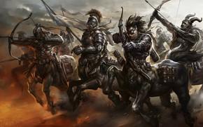 Картинка Art, Army, Weapon, Running, Centaurs