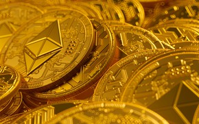 Картинка Golden, Gold, By mentat3d, mentat3d, Cryptocurrency, Golden Litecoin Cryptocurrency