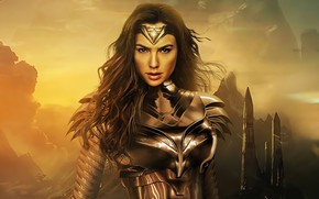Картинка взгляд, фантастика, герой, костюм, Wonder Woman, Gal Gadot, Чудо женщина